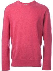 N.Peal 'The Oxford' Round Neck Sweater Pink And Purple