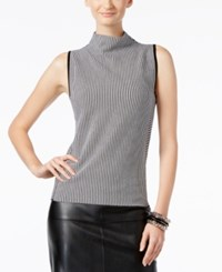 Inc International Concepts Mock Neck Sweater Only At Macy's Black White