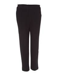 Lands' End Women S Ponte Stretch Ankle Trousers Black