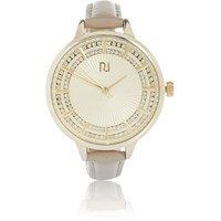 River Island Womens Gold Tone Embellished Watch