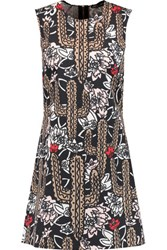 Markus Lupfer Cory Printed Cotton Blend Mini Dress Multi