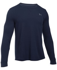 Under Armour Men's Waffle Textured Long Underwear Shirt Midnight Navy