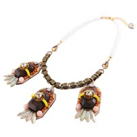 Niino Jewelry Wooden Beads Tribal Necklace Multi