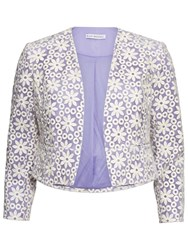 Gina Bacconi Daisy Embroidered Jacket Spring Lavender