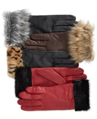 Charter Club Faux Fur Cuff Gloves Only At Macy's