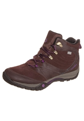 Merrell Azura Flurry Mid Waterproof Walking Boots Dark Taupe Bordeaux