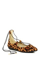 Rampage Starrstruck Leopard Lace Up Flat Multi
