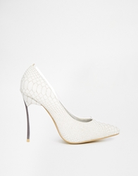 Paper Dolls Point Court Shoes White
