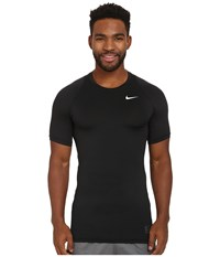 Nike Pro Cool Compression S S Black Dark Grey White Men's Clothing