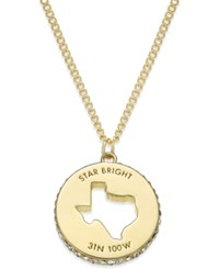 Kate Spade New York State Of Mind Gold Tone State Cutout Pendant Necklace Texas