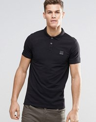 Boss Orange Polo Shirt With Logo In Slim Fit Black Black