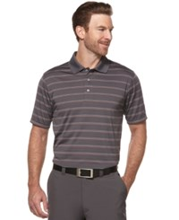 Pga Tour Men's Airflux Striped Golf Polo Asphalt