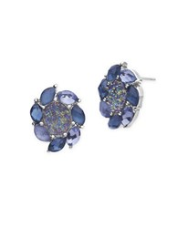 Lonna And Lilly Epoxy Stud Earrings Blue