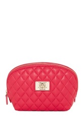 Love Moschino Quilted Cosmetic Pouch Pink