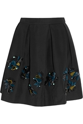 J.Crew Collection Embellished Cotton Blend Faille Mini Skirt