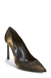 Lanvin 'Basic' Pointy Toe Pump Women Gold Leather