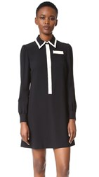 Red Valentino Collared Dress Black Ivory
