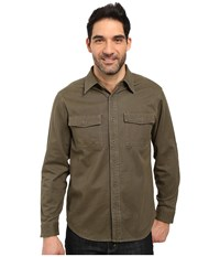 Royal Robbins Brushed Back Twill Work Shirt Loden Men's Long Sleeve Button Up Green