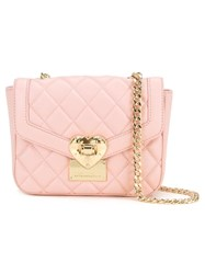 Love Moschino Quilted Crossbody Bag Pink Purple