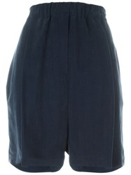 Damir Doma Pleated Shorts Blue
