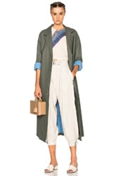 Rachel Comey Zia Trench Coat In Green