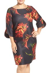 Gabby Skye Plus Size Women's Floral Print Shift Dress