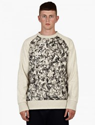 Christopher Raeburn Grey Shark Tooth Print Sweatshirt