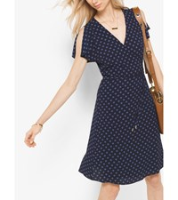 Polka Dot Crepe Wrap Dress