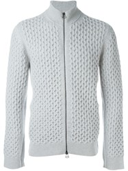 Lanvin Cable Knit Cardigan Grey