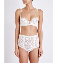 For Love And Lemons Skivvies Daisy Underwired Lace Bra Ivory