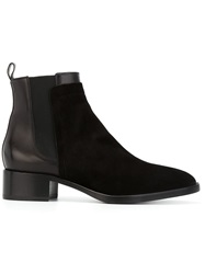 Sartore Low Chunky Heel Ankle Boots Black