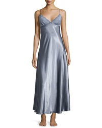 Jonquil Moonlight Long Satin Gown Slate Grey