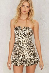 Lay Down The Claw Leopard Romper Animal