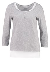 Esprit Edc By 2In1 Long Sleeved Top Light Grey
