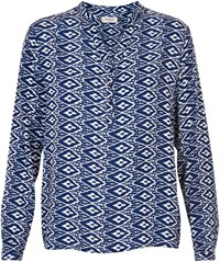 Soaked In Luxury Print Blouse Blue