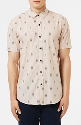 Topman Men's Print Short Sleeve Shirt