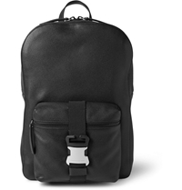 Christopher Kane Safety Buckle Textured Leather Backpack Black