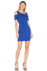 1.State Cold Shoulder Bodycon Dress Blue