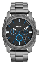 Fossil 'Machine' Chronograph Bracelet Watch 45Mm Smoke