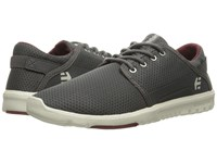Etnies Scout Grey Red White Men's Skate Shoes Gray