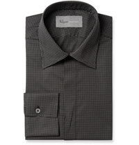 Kilgour Black Spot Print Lightweight Cotton Shirt