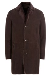 Etro Lamb Shearling Coat Brown