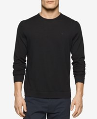 Calvin Klein Men's Merino Crew Neck Sweater Dusty Black