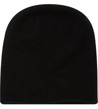 Johnstons Roll Trim Beanie Black
