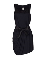 Karen C Short Dresses Dark Blue