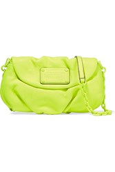 Marc By Marc Jacobs Karlie Neon Leather Clutch Yellow