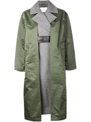 Toga Contrast Layer Coat Green