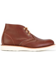Red Wing Shoes Chukka Boots Brown
