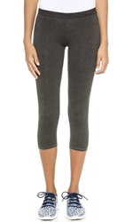 Solow Jersey Crop Leggings Charcoal