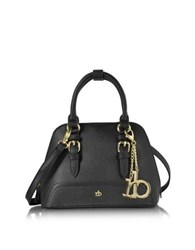 Roccobarocco Rb Small Saffiano Eco Leather Top Zip Bowler Bag Black